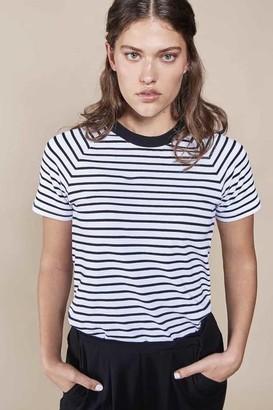 N. Jan 'n June - Quito Striped Organic Cotton T Shirt - XS