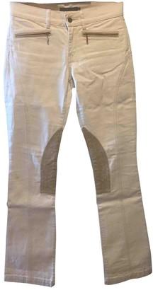 Ralph Lauren Ecru Cotton Trousers