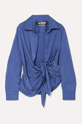 Jacquemus Knotted Twill Shirt - Blue