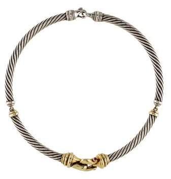 David Yurman Tourmaline Cable Buckle Necklace