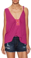 Free People New Vibes Asymmetrical Sleeveless Top