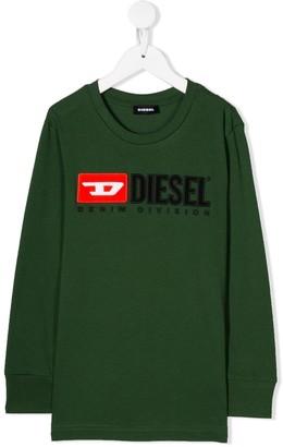 Diesel long logo sweater