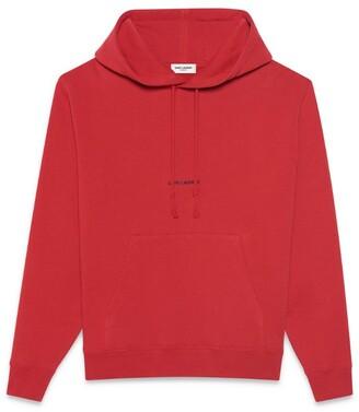 Saint Laurent Cotton Logo Hoodie