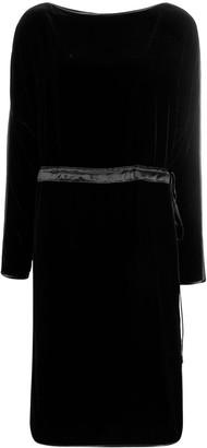 Gucci velvet drawstring midi dress