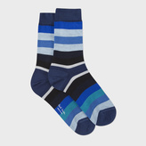 Paul Smith Women's Navy Stripe Silk-Blend Socks