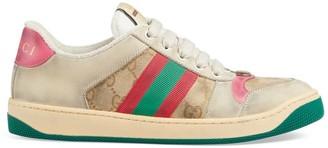 Gucci Worn Screener Leather Sneakers