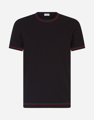 Dolce & Gabbana Two-Way Stretch Cotton Jersey T-Shirt With Patch