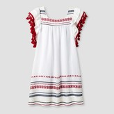 STELLA & SIENNA Girls' Stella & Sienna Embroidered Tassel Sundress - White/Red/Blue