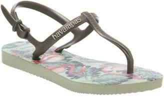 Havaianas Freedom Sandals Apple Green Flamingo Pink