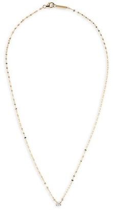 Lana Emerald-Cut Diamond & 14K Gold Pendant Necklace