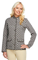 Isaac Mizrahi Live! Two-Tone Quilted Knit Jacket