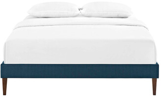 Modway Tessie Twin Fabric Bed Frame With Squared Tapered Legs