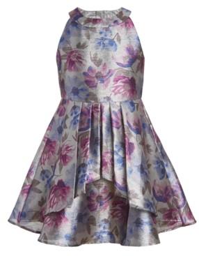 Calvin Klein Big Girls Floral Shine High-Neck Dress