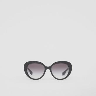 Burberry Monogram Motif Cat-eye Frame Sunglasses