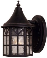 Savoy House 5-8250-25 Outdoor Sconce with Pale Cream Textured Shades, Finish