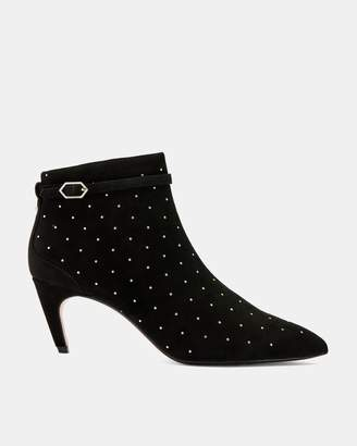 Ted Baker Suede Studded Heeled Boots