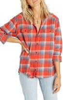 Billabong Women's Wild Adventure Plaid Flannel Shirt