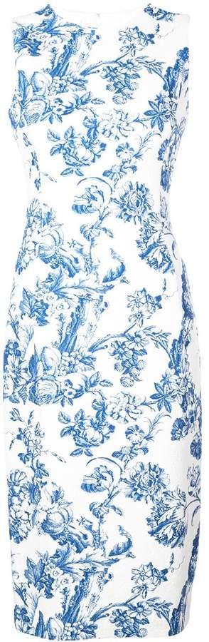 Oscar de la Renta floral print pencil dress