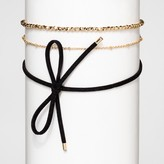 BaubleBar SUGARFIX by Bow Choker with Gold Chains - Black