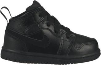 Jordan AJ 1 Mid Basketball Shoes - Black