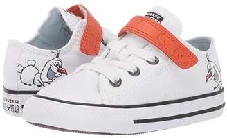 Converse Chuck Taylor(r) All Star(r) 1V Frozen Collection (Infant/Toddler) ((Ox) White/Illusion Blue) Girl's Shoes