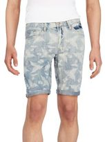Buffalo David Bitton Six X Fern-Print Jean Shorts