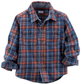 Carter's Plaid Twill Button-Front Shirt
