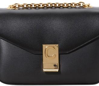 Celine C Medium Model Bag In Shiny Calfskin