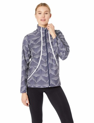 Cutter & Buck Women's Weathertec Quiet Packable Print Long Sleeve Full Zip Jacket