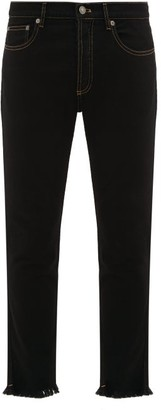 Givenchy Ripped Hem Slim-leg Jeans - Black