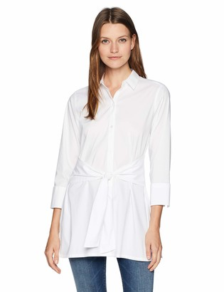 Foxcroft Women's Michaela Non Iron Stretch Tie Front Tunic
