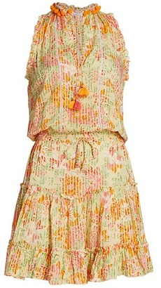Poupette St Barth Clara Floral Ruffled Mini Dress