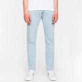 Paul Smith Men's Slim-Standard 13oz 'Unlucky Red Selvedge' Light-Wash Denim Jeans