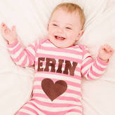 Nell Percy and Personalised Single Heart Romper