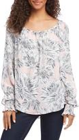 Karen Kane Floral Print Smocked Sleeve Top