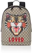 Gucci Men's Cat-Print GG Supreme Backpack