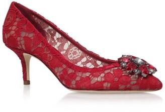 Dolce & Gabbana Embellished Lace Rosa Pumps 60