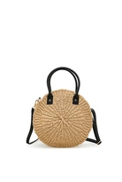 Country Road Round Woven Straw Bag