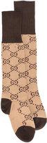 Gucci GG Supreme print socks - women - Cotton/Polyamide/Spandex/Elastane - S