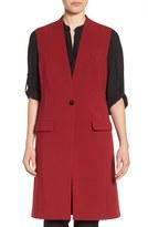 Halogen One-Button Long Vest (Regular & Petite)