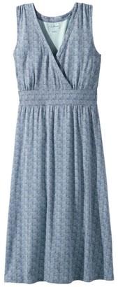 L.L. Bean Women's Summer Knit Dress, Sleeveless Print