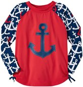 Hatley Anchors Rash Guard (Toddler/Kid) - Red - 6