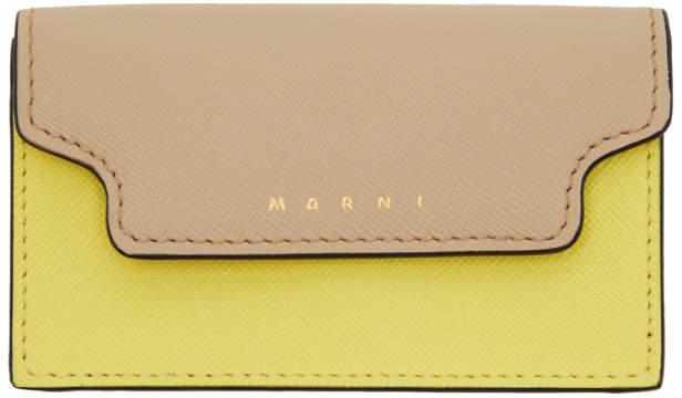 Marni (マルニ) - Marni ベージュ and イエロー エンベロープ カード ホルダー