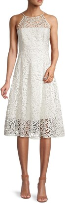 Milly Alessia Embroidered Lace Dress