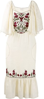 Sleeping Gypsy embroidered front dress