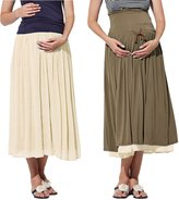 Sweet Mommy Maternity Reversible Maxi Skirt BLM