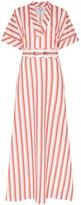 Evi Grintela striped v-neck maxi dress