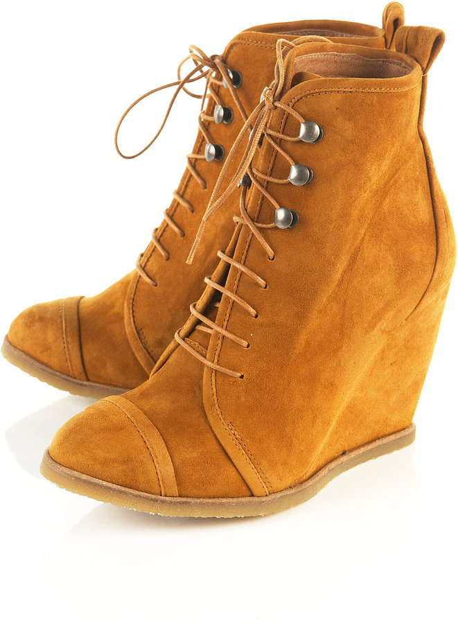 Topshop ACORN Wedge Ankle Boots