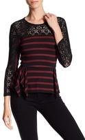 BCBGMAXAZRIA Rosemary Knit Peplum Shirt