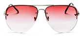 Quay Muse Fade Aviator Sunglasses, 62mm